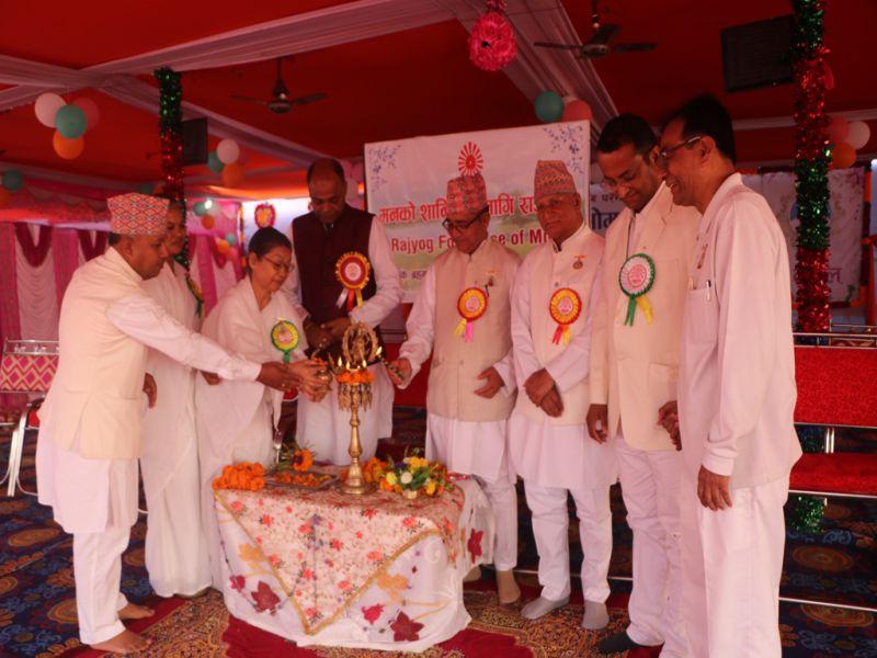 Nepal(Birgunj) : State Finance Minister Ms. Usha Kumari Inaugurates Rajyoga Camp